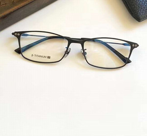 تيتانيوم إطارات النظارات الإطارات الرجال الأعمال الكامل حافة النظارات عدسة واضحة 56-17-145 الإطارات البصرية مع مربع