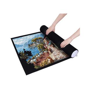 Porte-puzzles Tapis Jigsaw Tapis en feutre Jigsaw Mat Playmat avec accessoires Couverture de puzzles pour sac de rangement de voyage portable