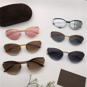 Yeni Moda Metal 0696 Erkekler Kadınlar için Güneş Gözlüğü Gözlük 0696 Güneş Gözlüğü Tom Tasarımcı Kedi Göz Güneş Gözlükleri UV400 Lensler Trend Kutusu ile