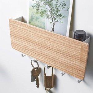 Crochet de rangement en bois de style japonais Crochet de rangement de la clé ménager pour la mode murale NOUVEAU abordable excellent matériau fort