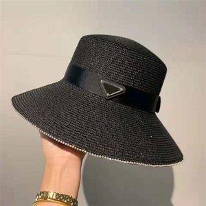 Caps caliente mujeres de la venta de ala ancha sombreros de moda Tacaño Brim sombreros Impreso Budge playa de sombreros de calidad superior