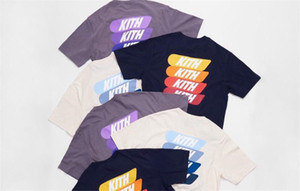 KITH Monday Program gradient logo T-shirt men casual street hip-hop style cotton T-shirt for men and women