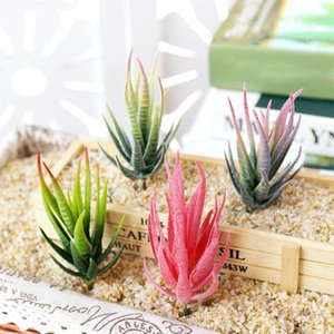 7X13.5cm Artificial succulents Plants Aloe Zebrina Plants Artificial Plant Landscape Fake Flower Arrangement Garden Decoration