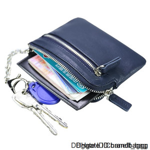 2020 Fashion genuine Leisure women leather purse for men card holders wallet free C6238