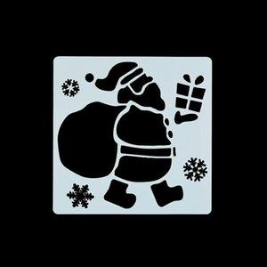7pcs Christmas Drawing Stencil For Painting Santa Claus Snowman Deer Hollow Pet Mold Diy Kids Toys Reusable Graffiti Template jllUpr
