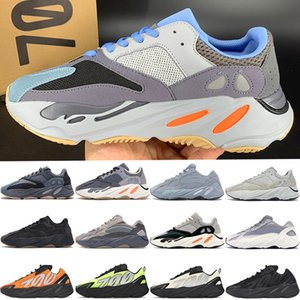 With Box New kanye west 700 v1 v2 MNVN Reflective Carbon Blue graffiti magnet Orange Tie dye Vanta mens running shoes women sneakers