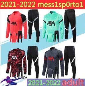 liverpool Survêtement de football 2020 2021liverpool pour adulte 20/21 football survêtement de football à fermeture éclair longue