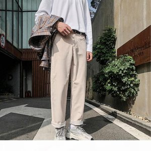 Spring New Corduroy Pants Men Fashion Retro Solid Color Casual Trousers Man Streetwear Hip Hop Loose Joggers Sweatpants Male