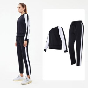 Women's Sweatshirt Sets Long Sleeve and Swantpants Training Excise Sports Suit 2pcs Autumn Winter Sweatsuit for Workout Jogging