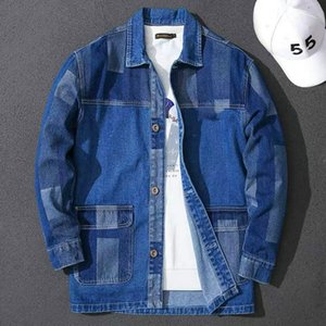 2020casual blue Biker Denim Jackets for Mens Slim Fit Short hip hop Casual Motorcycle Blue Casual Coats letters Male Tops Jackets coat M-3XL