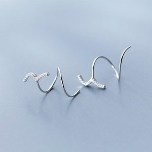 Hoop Earrings Stainless Steel Silver Color Earring For Women  Girl Jewelry