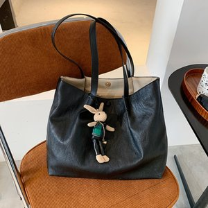New 2020 Autumn and Winter Female Fashion Big Soft Surface Texture Single Shoulder Daily Shopping Bag Handbag