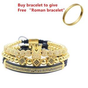3pcs set+Roman numeral titanium steel bracelet couple bracelet crown  for lovers bracelets for women men luxury jewelry