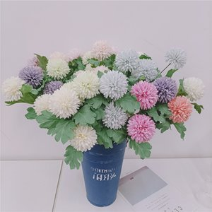 NEW Simulation ball chrysanthemums Home Decor Artificial Flowers 2 Head simulation Hydrangea Party Wedding Decoration Fake Flower T9I001114