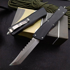 MT Hellhound Blade AUTO Tactical Knife D2 Tanto Point Stone Washed Blade 6061-T6 Handle EDC Pocket Knives