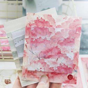 Cherry Blossom Flamingo Adesivi Planner Memo Pad Kawaii N volte Sticky Note Mini Memo Notepad Bookmark regalo cancelleria sqchxn