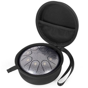 12 Pieces Wholesale 6 inch 8 Notes Steel Tongue Drum C Tone Percussion Instrument W  Mallets Carry Bag Music Book