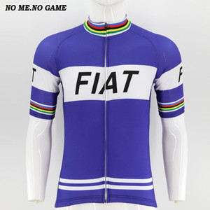 NO ME NO GAME 레트로 자전거 유니폼 남성 짧은 소매 도로 자전거 Jeresy 블루 사이클링 의류 착용 로파