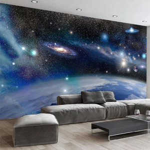 Custom Any Size Mural Wallpaper 3D Beautiful Planet Galaxy Landscape Wall Paper Bar KTV Decoration Background Wall Papers Fresco