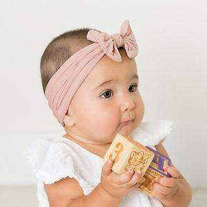 Enfants pur Couleur Bandeaux Ruban Bows Hair Fashion Boutique Band cheveux doux et confortable Bandeau Tissu Accessoires cheveux KKF2207