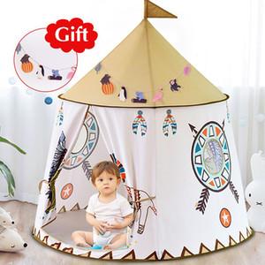 YARD Kid Tent House Portable Princess Castle 123*116cm Present Hang Flag Children Teepee Tent Play Tent Birthday Christmas Gift 1018