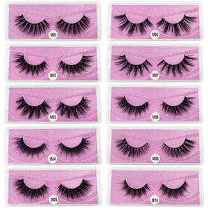 in stock! New Arrival 3d Mink eyelashes Thick real mink Hair false lashes Eye Lash Makeup Extension fake Eyelashes 10 Styles