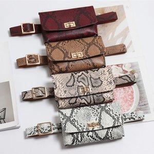 HBP فاني حزمة الأزياء أفعواني الخصر حقيبة المرأة جلد الخصر حزمة خمر الخصر حزام