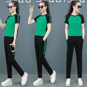 GI6Le Спорт одежды лета 2020 новый летний свободный вскользь костюм два-piececasual два-piecesportswear короткий рукав двухсекционный костюм XxyqC