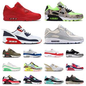 airmax 90 max 1 Лучшая скидка Мужские и женские кроссовки ATMOS BLACK CROC INTERNATIONAL FLAG PACK INFRARED Мужская спортивная обувь дышащая спортивная обувь размер 36-45