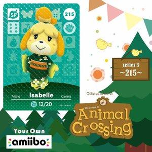 Новая Amiibo Card Animal Crossing Isabelle Isabel Animal Crossing Amiibo Card Series 1 Амино-карты для