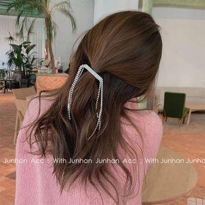 Korean Fashion Xianmei Crystal Tassel Claw Chain Pendant Girl Temperament Full Diamond Top Ee Clip Net Red Hair Accessories