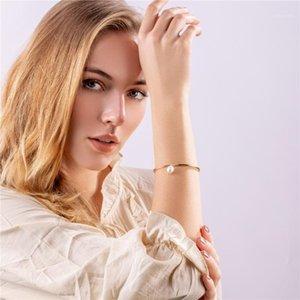 Chiao Modeschmuck Simplicity Design Charm Armband Süßwasser Perlenarmband für Frauen1