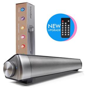 Verbesserte LP08 Bluetooth Lautsprecher Bücherregal aus Metall 3D Sound Soundbar Heimkino Wireless Speaker TV Soundbar Sound System Rsionch