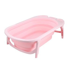 3 Colors Portable Folding Children Baby Bathtub Bath Bucket Non-Toxic Safe Durable Baby Tubs Large Size Anti-Slip Bottom Design