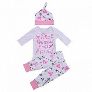 US Neugeborene Kleinkind-Baby-Kleidung Liebesbrief gedruckt Spielanzug-Overall + Pants Ballon- Bat + Bow Tie Stirnband Outfits Set 0-24M usoo #