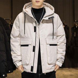 Il nuovo inverno 2020 uomini con giacca di cotone imbottito allentata spessore breve giù cappuccio del rivestimento del cappotto utensili bello svago maschio