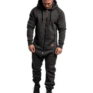 New Fashion Tangsuit Pantaloni lunghi Pantaloni da uomo Pigiama Splicing Autunno Inverno caldo Casual Casual Confestazione con cappuccio con cappuccio Zipper Stampa Tuta Uomo Set
