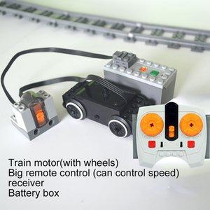 Tren motoru Technic parçaları Leduo çoklu güç işlevi alet servo blokları tren taban PF 1008 Uyumlu tüm Markaları setleri