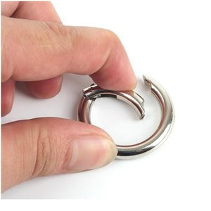 NEUE 2 STÜCKE Multi-Size-O-Ring-Schnallen Runder Push-Gate-Schnapphaken Frühlingsring Key Carabiner Snap Schlüsselanhänger Campin BYNNNZ