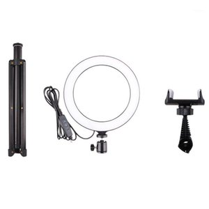 Retail 10 Inches Selfie Led Ring Light With Tripod Stand And Cell Phone Holder Desktop Lamp Mini Led Camera Light For Youtube Vi1