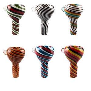 Vaping_Dream G086 Full Heady Color 14mm 19mm Male Glass Bowl Splatter Shinning Color Glass Pipes Bong Bowls