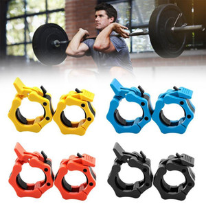 "1 Pair 2"" Barbell Collar Lock Clips Dumbbell Buckle Olympic Weight Lifting Bar Clamp for Gym Fitness Exercise Body Building 50mm"