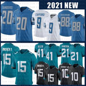 15 Allen Robinson Futbol Forması 21 C.J. Henderson 41 Josh Allen 9 Matthew Stafford 20 Barry Sanders Formalar