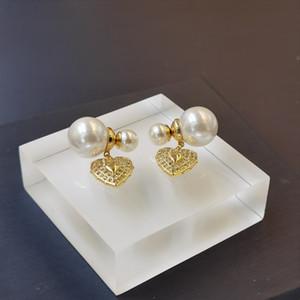 di alta qualità di vendita calda nuova tendenza di moda orecchini di perle orecchini in argento 925 per le donne semplice metallo Lettera Vento Forma Orecchini regalo