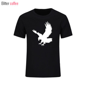 Bitter Coffee Eagle Parted Marque Короткая рукава Летняя мода Смешные повседневные футболки Tee Plus Размер Спорт Толстовка с капюшоном Шалочка Мужская футболка