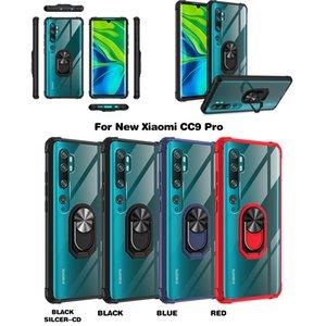 Роскошная броня противоударного телефон чехол для реого Xiaomi Примечание 10 Pro Lite Finger магнита кольцо держателя брони Anti-Fall Back Cover Case