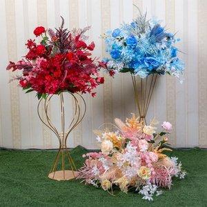 Artificial Silk Flower Ball Flower Rack For Wedding Centerpiece Home Room Decoration Party Supplies DIY Craft 9 Color1