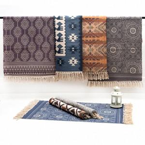 RAYUAN Nordic Style-Woven Cotton Teppich Teppich Wohnzimmer Schlafzimmer Nacht Tatami Bodenmatte Staub-Beweis Mats 60x90CM 60x130cm 4wY2 #