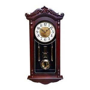 Большой маятник настенные часы гостиная роскошь дерево ретро бесшумные качели настенные часы винтажные часы Relol Para Casa Clock Hot