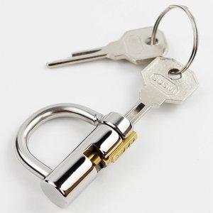 Titanio D-Ring PA Lock glande Piercing Male Chastity Device pene arnés de sujección Correas FittingPA Punción